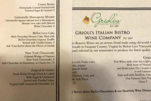 Grioli's Italian Bistro & Pizzeria